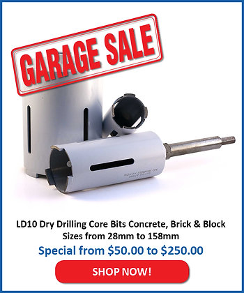 LD10 Dry Core Drill Bit - Brick/Block/Concrete