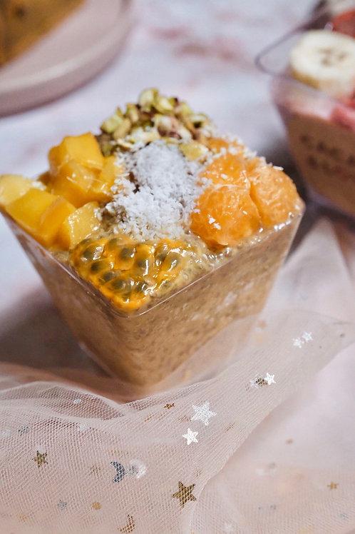 Vegan mango chia seed pudding