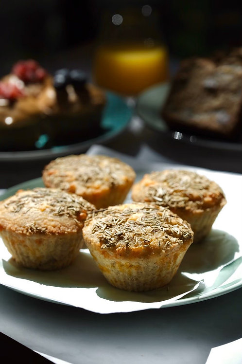 Keto savory cheesy muffins