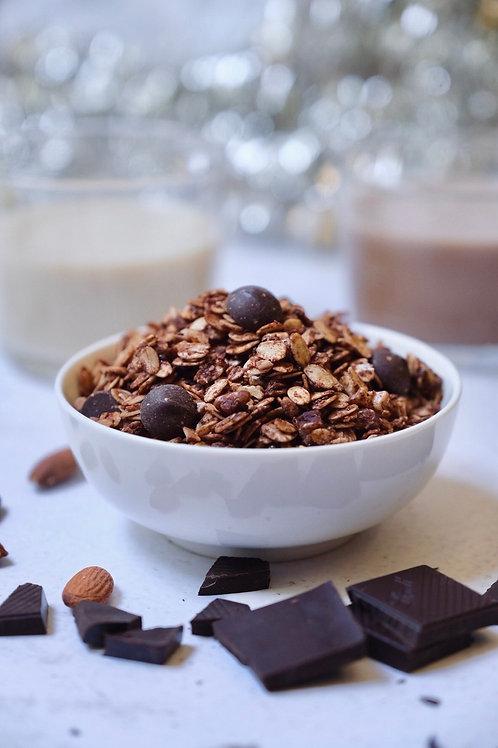 Vegan dark choc & sea salt granola