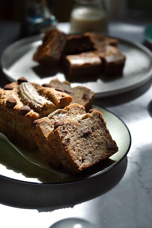 Vegan Cacao Banana Bread
