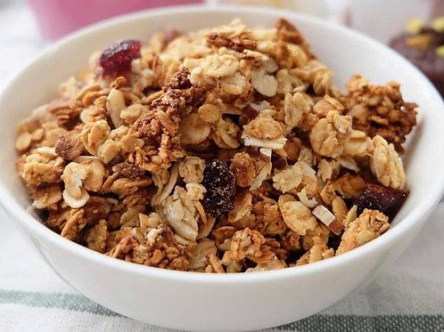 Vegan crunchy nutty PB granola