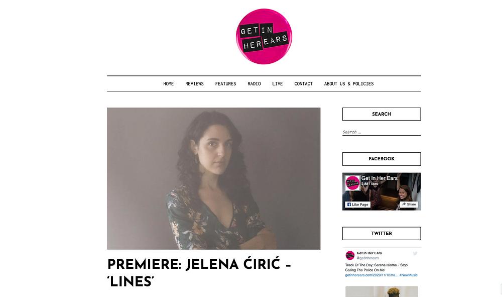 Jelena Ciric - Get In Her Ears Premiere