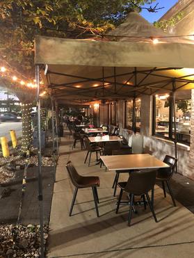 Oozi Corner outdoor seating