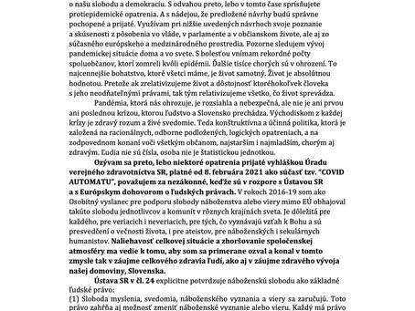 List vláde Slovenskej republiky
