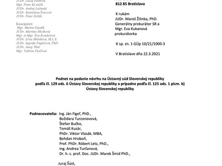 Tretí (spoločný) podnet generálnemu prokurátorovi SR