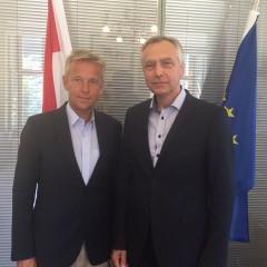 Lopatka a Figeľ sa stretli v rakúskom parlamente