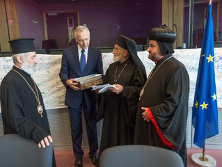 """Syrian religious leaders in Brussels: """"We want to live in our land, we don't want to leave"""""""