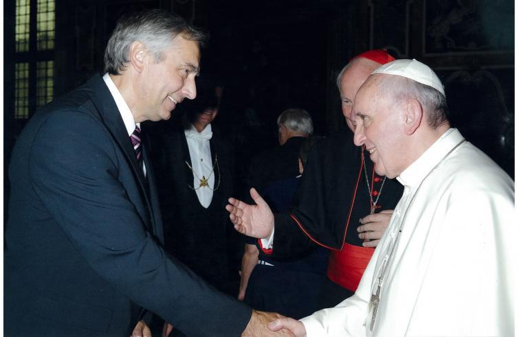 Jàn Figel con Papa Francesco