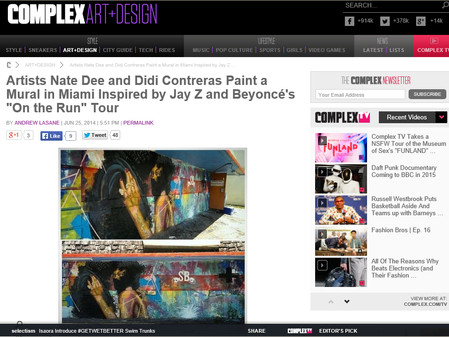 "Artists Nate Dee and Didi Contreras Paint a Mural in Miami Inspired by Jay Z and Beyoncé's ""On the R"