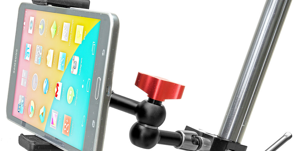 "Clamp Mount with 7"" Articulated Arm for Mini Tablets"