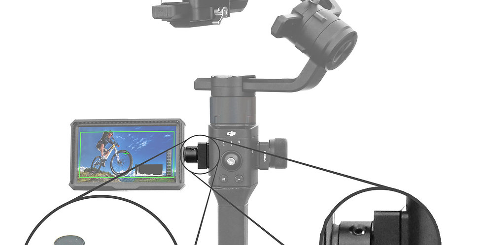 Monitor Mount for DJI Ronin-S with 360 degree Swivel Mechanism