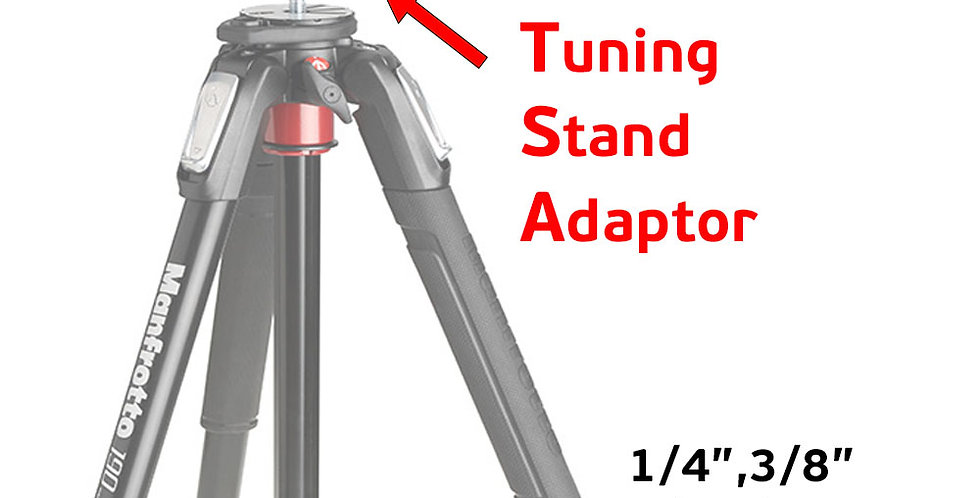 """Tuning Stand Folding Arms and Tripod Adapter for Any 1/4'-3/8"""" Tripod"""