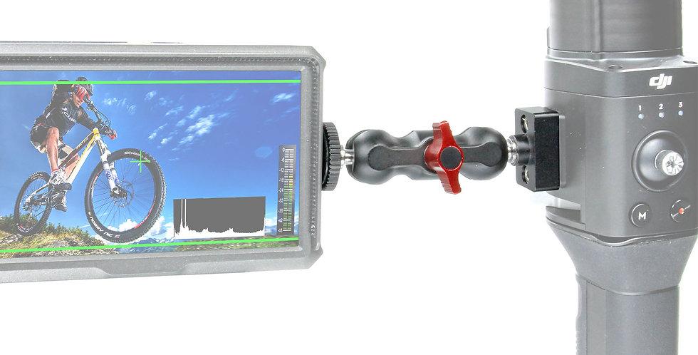"1/4""-20 Accessory Mount with Mini 360 deg Ball Mount for DJI Ronin-S"