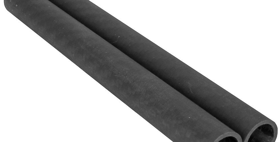"Pair of 6"" Heavy Duty Lightweight 15mm Carbon Fiber Rods w/ 1.5mm walls"