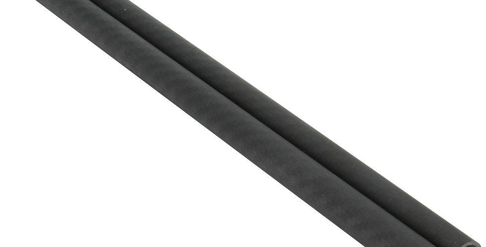 "Pair of 24"" Heavy Duty Lightweight 15mm Carbon Fiber Rods w/ 1.5mm walls"