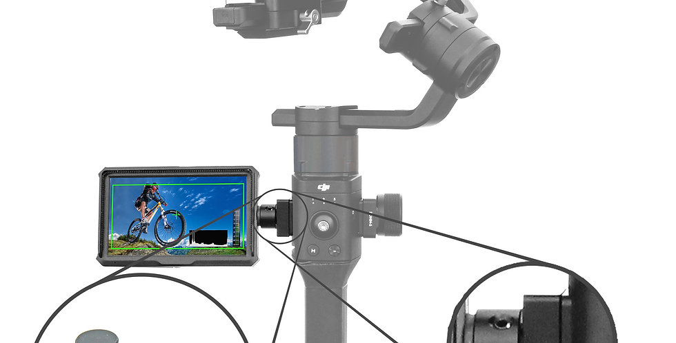 "5"" Monitor for DJI Ronin-S with 360 degree Swivel Mechanism"