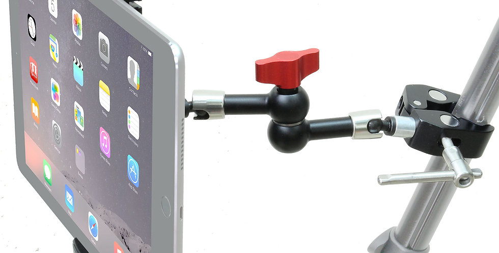 "Clamp Mount with 11"" Articulated Arm for Standard Tablets / Smart Phones"