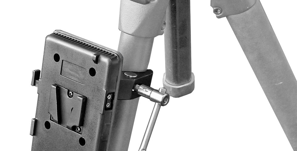 """V-MOUNT BATTERY PLATE with 1/4""""-20 MOUNTING and ADJUSTABLE CLAMP MOUNT"""