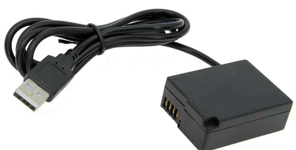 "USB TO PANASONIC DMC-GH2 (DMW-BLC12) BATTERY 40"" INTELLIGENT ADAPT"