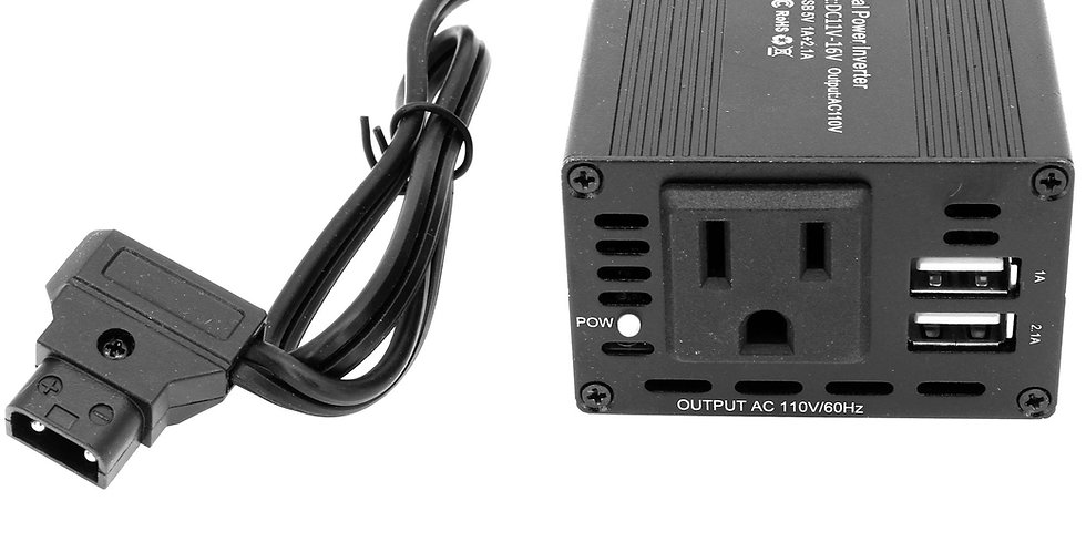 150W D-TAP TO110V AC POWER INVERTER WITH 2xTYPE-A USB OUTPUTS