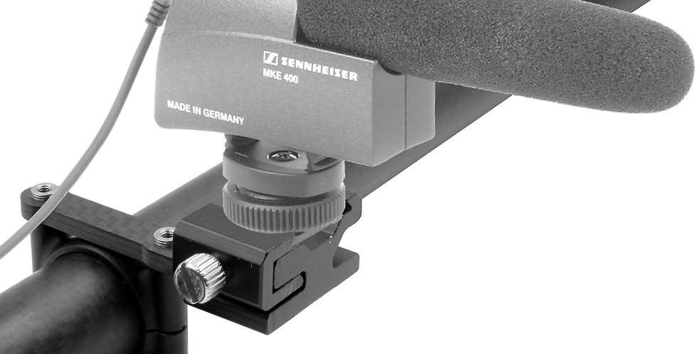 HOT SHOE SINGLE CARBON FIBER MOUNT FOR MICROPHONES ON DJI RONIN