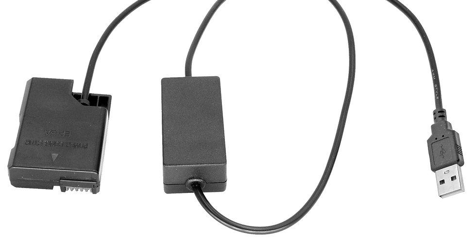 USB TO NIKON EN-EL14 DUMMY BATTERY (EP-5A)  40'  INTELLIGENT ADAPTER CABLE