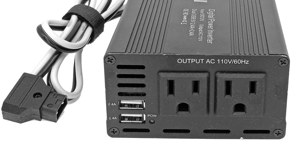 300W HIGH POWER D-TAP TO110V AC POWER INVERTER WITH 2xTYPE-A USB OUTPUTS