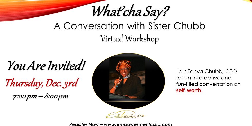 FREE Virtual Workshop: Self-Worth