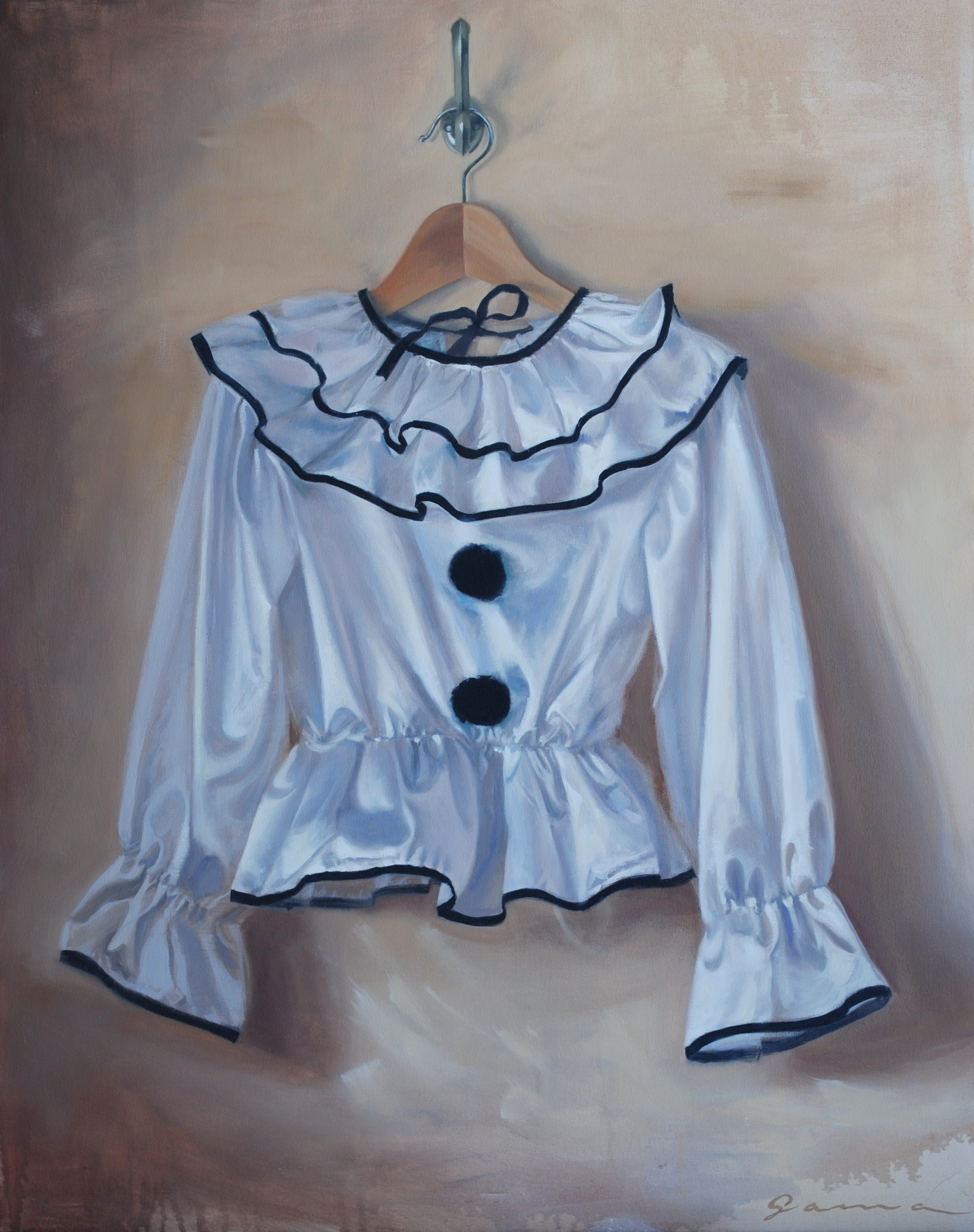 16+–+The+Costume,+Oil+on+canvas,++30+x+24+ins.