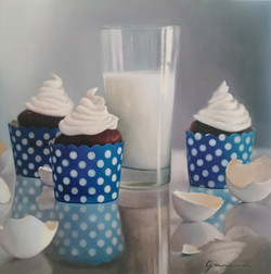 Cupcakes pour Yayoi Kusama, Huile s
