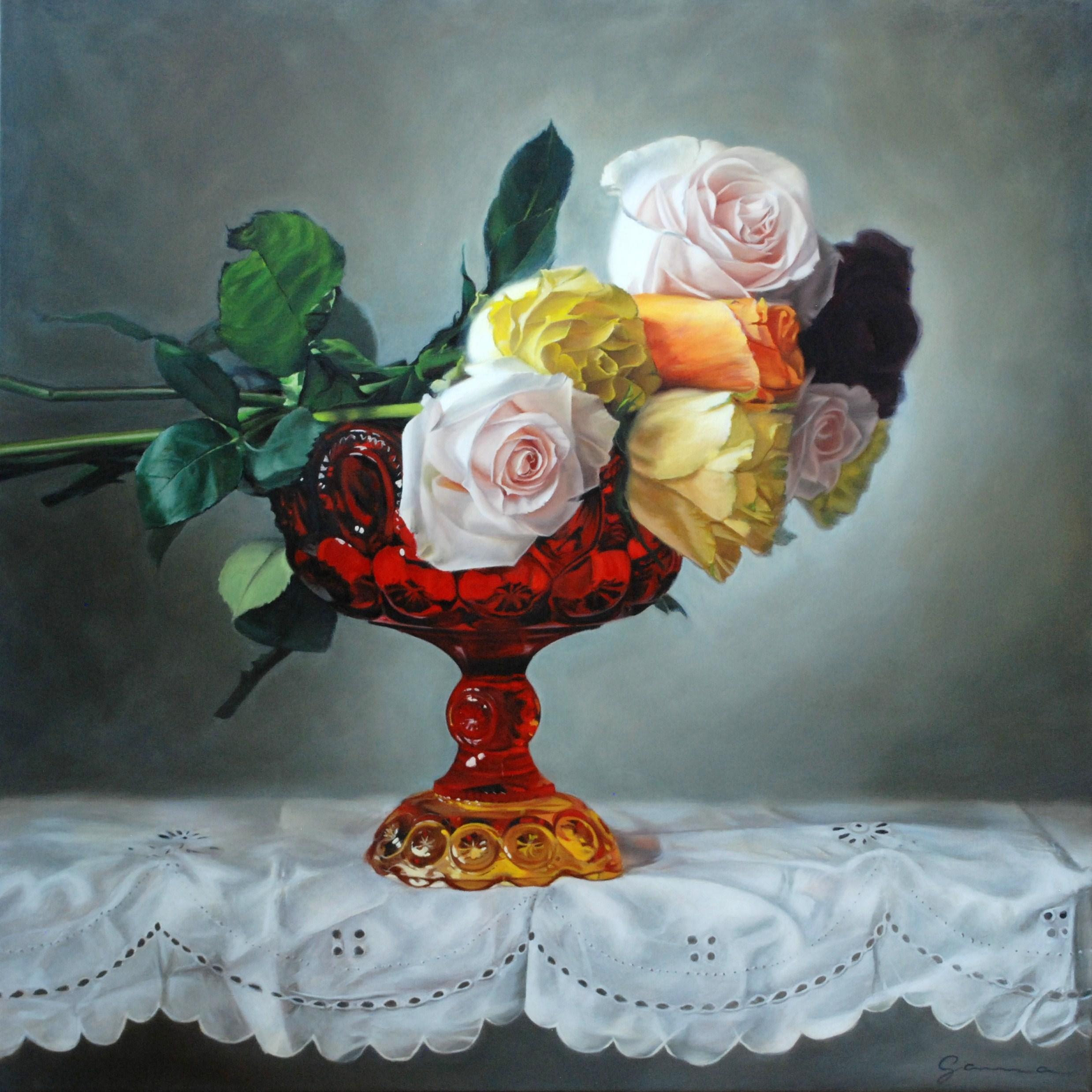 Guy-Anne+Massicotte+-7-+Le+vase+rouge,+Huile+sur+toile,+36+x+36+po.,+2009,+4300$