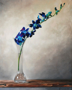 Blue+orchid,+Oil,++20x16+ins.,2009