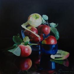 2602-Pomme en équilibre- Apple stripping
