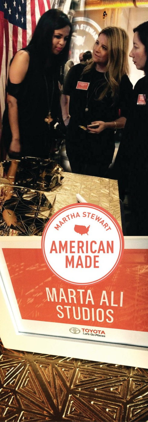Marta Ali with Elizabeth Graves - Editor in Chief, Martha Stewart Living Omni Media at American Made initative event for DC Makers