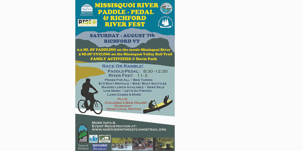 Missisquoi River Paddle Pedal