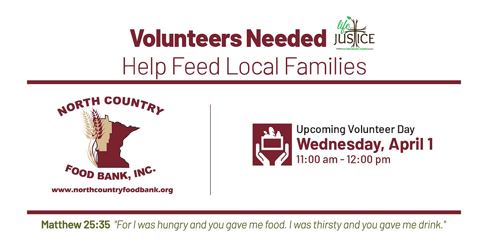 Help Feed Local Families at NCFB