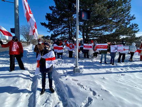 Every Sunday of February 2021. Rally in Support of Belarus.