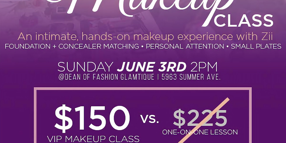 VIP Makeup Class