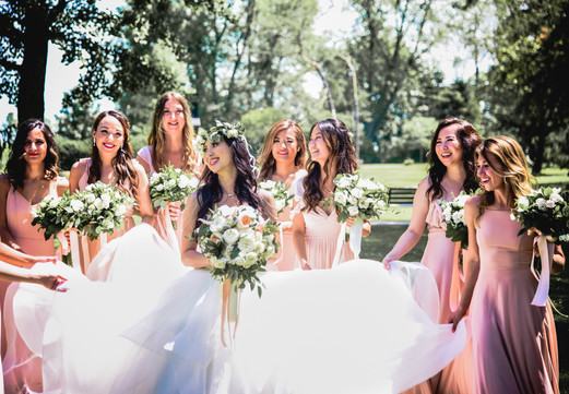 M and bridal party