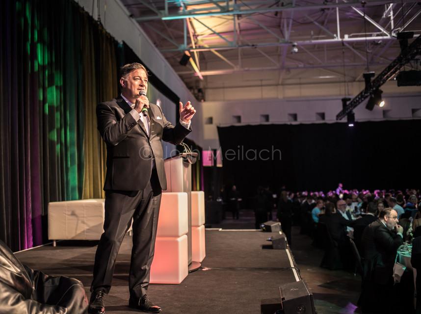 Kevin Frankish hosting WeCare Gala