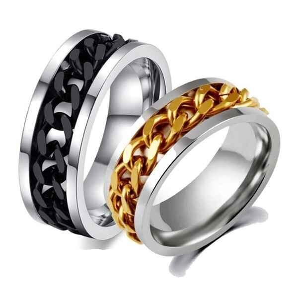 Fidgeting spinner ring