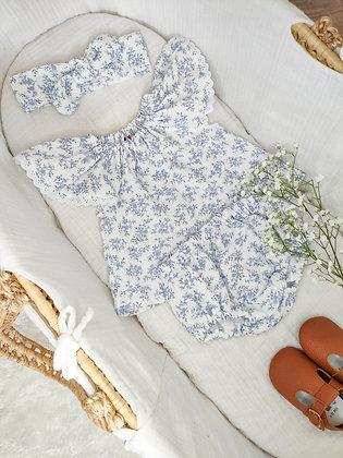 Ensemble Blouse & Bloomer Lovely Blue