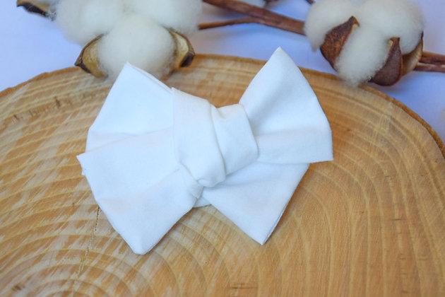 Noeud Butterfly Blanc