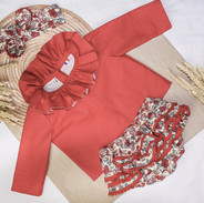 Blouse Rouge & Culotte Red FLowers