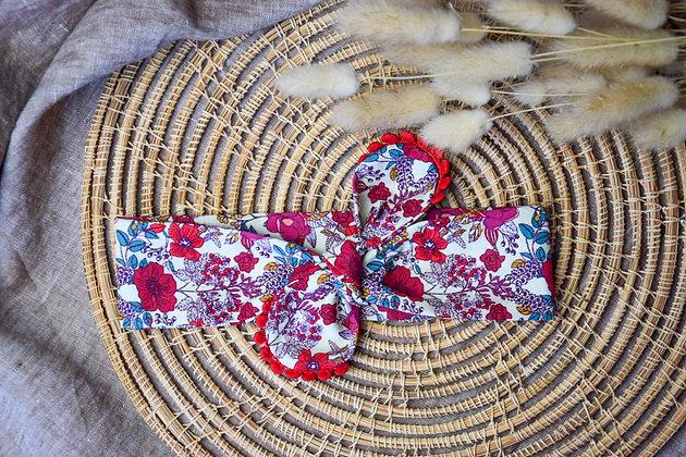 Bandeau Noué Red Flower