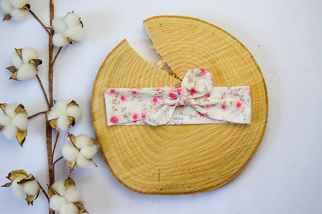 Bandeau Noué Pink Flowers