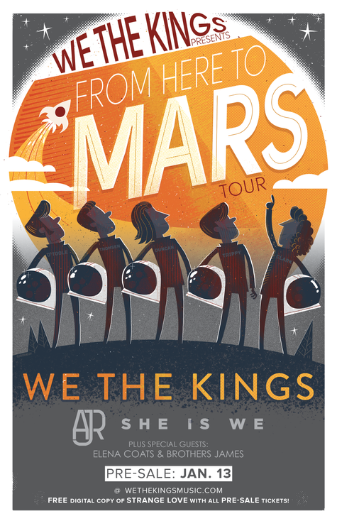 From Here To Mars tour pre-sale TOMORROW