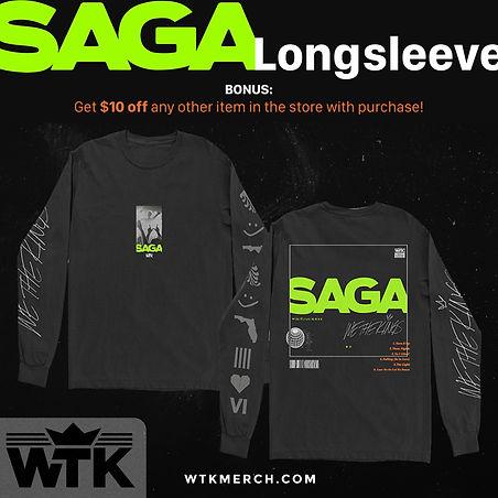 We The Kings Merch - SAGA Longsleeve