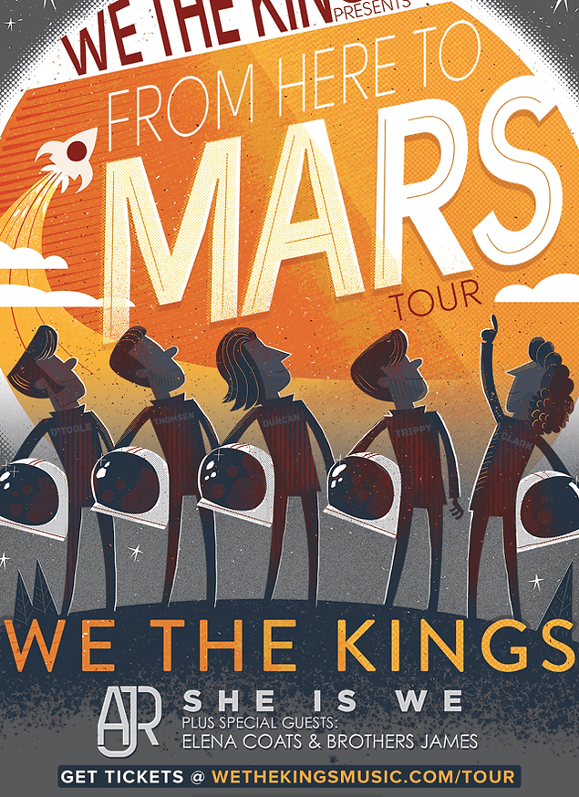 We The Kings - From Here To Mars Tour with AJR, She Is We, Elena Coates and Brothers James - On Sale Now!